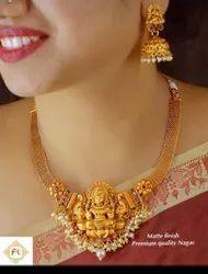 Karishma Kreations Matte Finish Temple Jewellery Set - 100510100