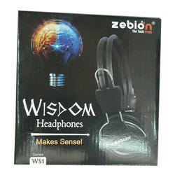 Black Wireless Headphone, Packaging Type: Box
