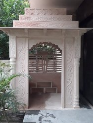 Designer Sandstone Outdoor Temple