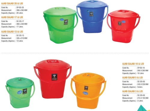 Plastic Red Blue Green Orange Transpa Kitchen Storage Bucket
