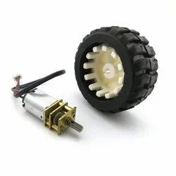 6V N20 Micro Gear Motor with Rubber Wheel For Robot Smart Car