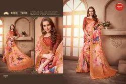 Apple Hits Of Aaradhana Vol 2 Linen Silk Printed Saree Collection