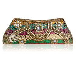 Silk Brocade Clutch Bag