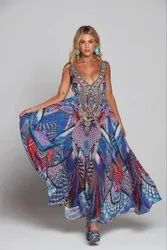 Digital Printed Long Maxi Dress