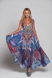 Digital Printed Long Maxi Dress