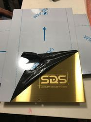 Gold Hairline Etching Elevator Cabin SS Sheet