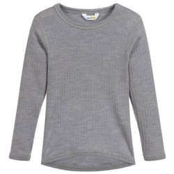 Gray Full Sleeves Woolen Round Neck Sweater