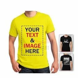 Cotton Custom T Shirt with Printing Service