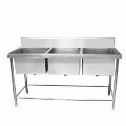 Three Sink Dish Wash Unit
