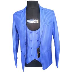 Striped Blue Mens Plain Cotton Suit Lineing, Size: 36-44