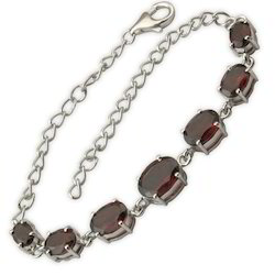 Multi Color Costume Semiprecious Silver Bracelet