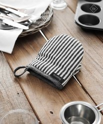 Striped Cotton Glove And Pot Holder
