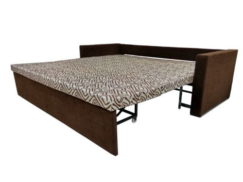 Metal sofa cum bed with storage