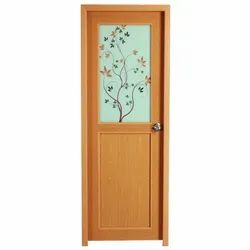 Hinged Polished Decorative PVC Door, For Home, Exterior