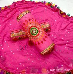 Straight Cotton Unstitched Salwar Kameez, Size: Xl