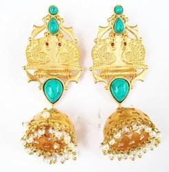 Color Stone Jhumka