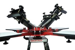 4 Color 4 Station Screen Printing Heavy Duty Machine With Micro,  Model/Type: Rider 4