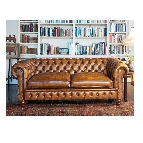 Rexine Light Brown Chesterfield Sofa, Rs 70000 /piece, Bab Leather ...