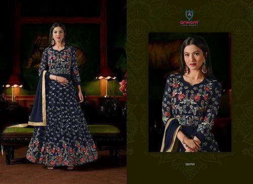 fb62e4f60f Arihant Semi-Stitched Gown Present New Catalog Sashi Vol 18, Rs 1795 ...