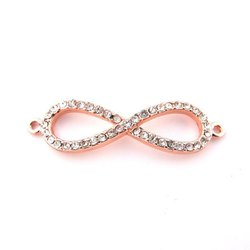 Rose Gold Plated CZ Set Infinity Charm