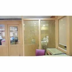 Transparent Fabric Laminated Glass, For Door, Thickness: 10mm
