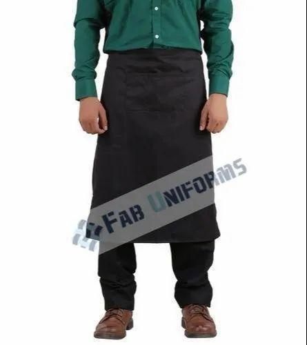 Poly Cotton Black Bib Apron for Kitchen