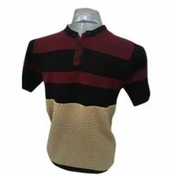Mens Fancy Round Neck Half Sleeve Casual Wear T Shirt