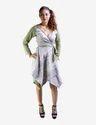 Pale Green Wrap Around Dress