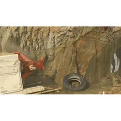 Rock Excavation By Diamond Wire Cutter Method