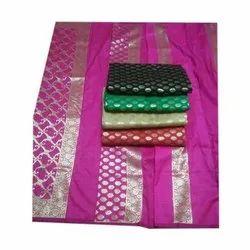Party Wear Cotton Silk Dress Material
