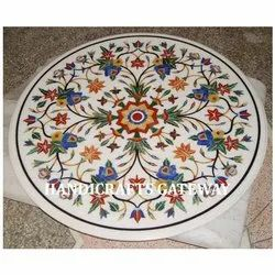 White Inlay Marble Table Tops