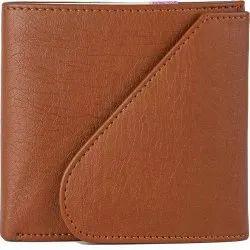 Plain Design Tan Men's Leather RFID Blocking Wallet