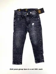 Casual Wear Faded Kids Denims, Zipper, Age Group: 2-8 Years