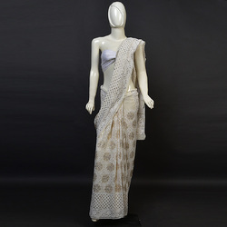 saree pure all over heavy mukaish work