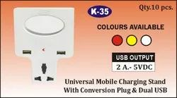 K-35 Universal Mobile Charging Stand With Dual USB