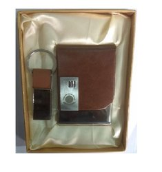 Leather Key Ring Business Card Holder Set