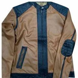 c10d778c7 Men Brown Stylish Leather (d&g) Jacket, N.H. Fashion | ID: 19174156162