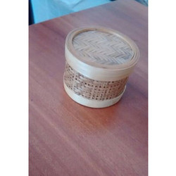 Bamboo Brown Round  Boxes
