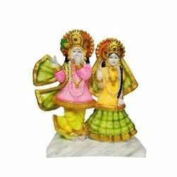 Color Full Radha Krishna Statue