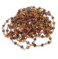 Crystal Beaded Chain For Jewellery Making, Size: 3 Mm