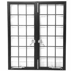 Modern Black Hinged Mild Steel Window, For Home, Size/Dimension: 4x3 Feet