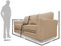 Adorn India Alexia 3 Seater Sofa (Beige)