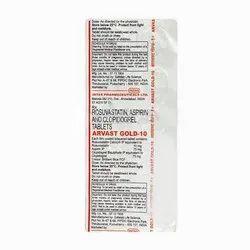 Arvast Gold 10 Tablet, Intas Pharmaceuticals Ltd, Non prescription