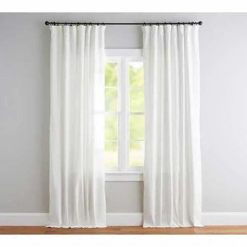 Plain White Cotton Curtains