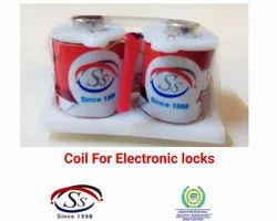 Copper Electronic Lock Coil, For ind.,home etc., 9 V