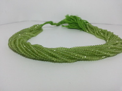 Natural AAA Green Peridot Micro Faceted Beads