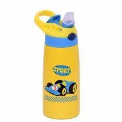 Plastic Yellow Kids Water Bottle