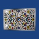 New Design Mosaic Rectangular Marble Inlay Table Top