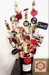 Mini Wine Bottle Bouquets