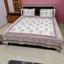 Double Bed Sheet Set Block Printed Cotton Thick